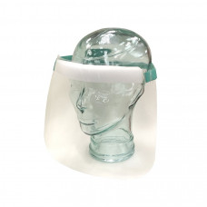Face Shield - Clear, Adjustable Elastic Strap, Reusable (each)
