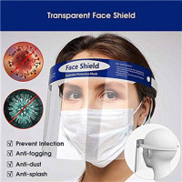 FACE SHIELD - CLEAR, ELASTIC BAND, REUSABLE (PACK OF 10)