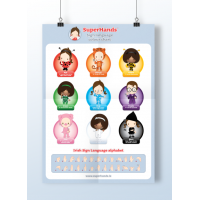 SuperHands Baby Poster