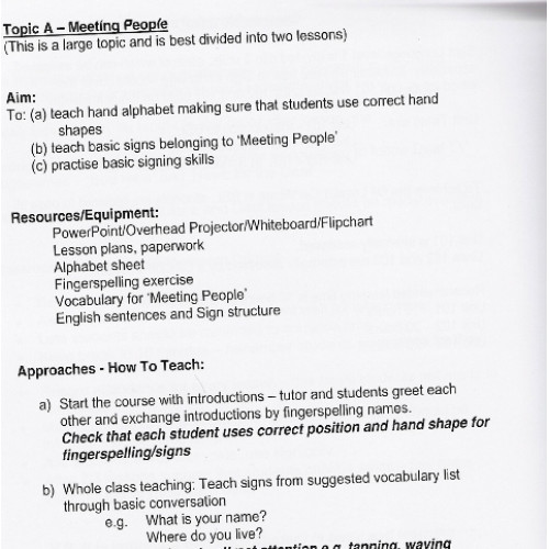 Tutor Manual BSL Level 1 Unit 101