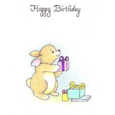 Rabbit Birthday Card