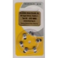 Hearing Aid Batteries - Yellow/10