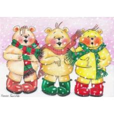 Carol Bears Christmas Card