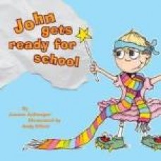 John gets ready for school